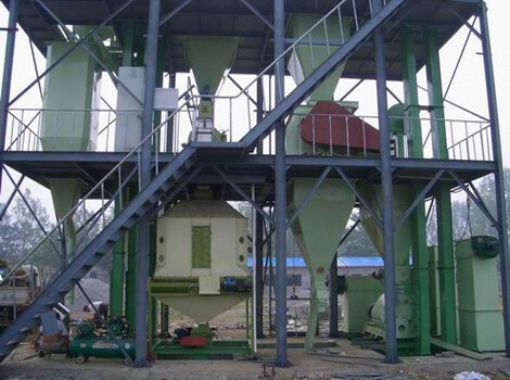 chicken feed pellet plant