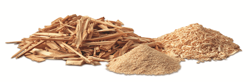 material crushed by wood hammer mill