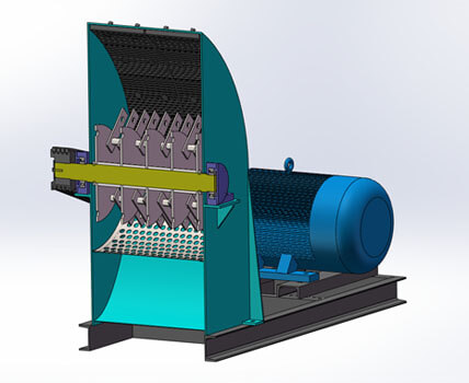 small wood hammer mill structure