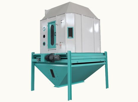 counterflow feed pellet cooler